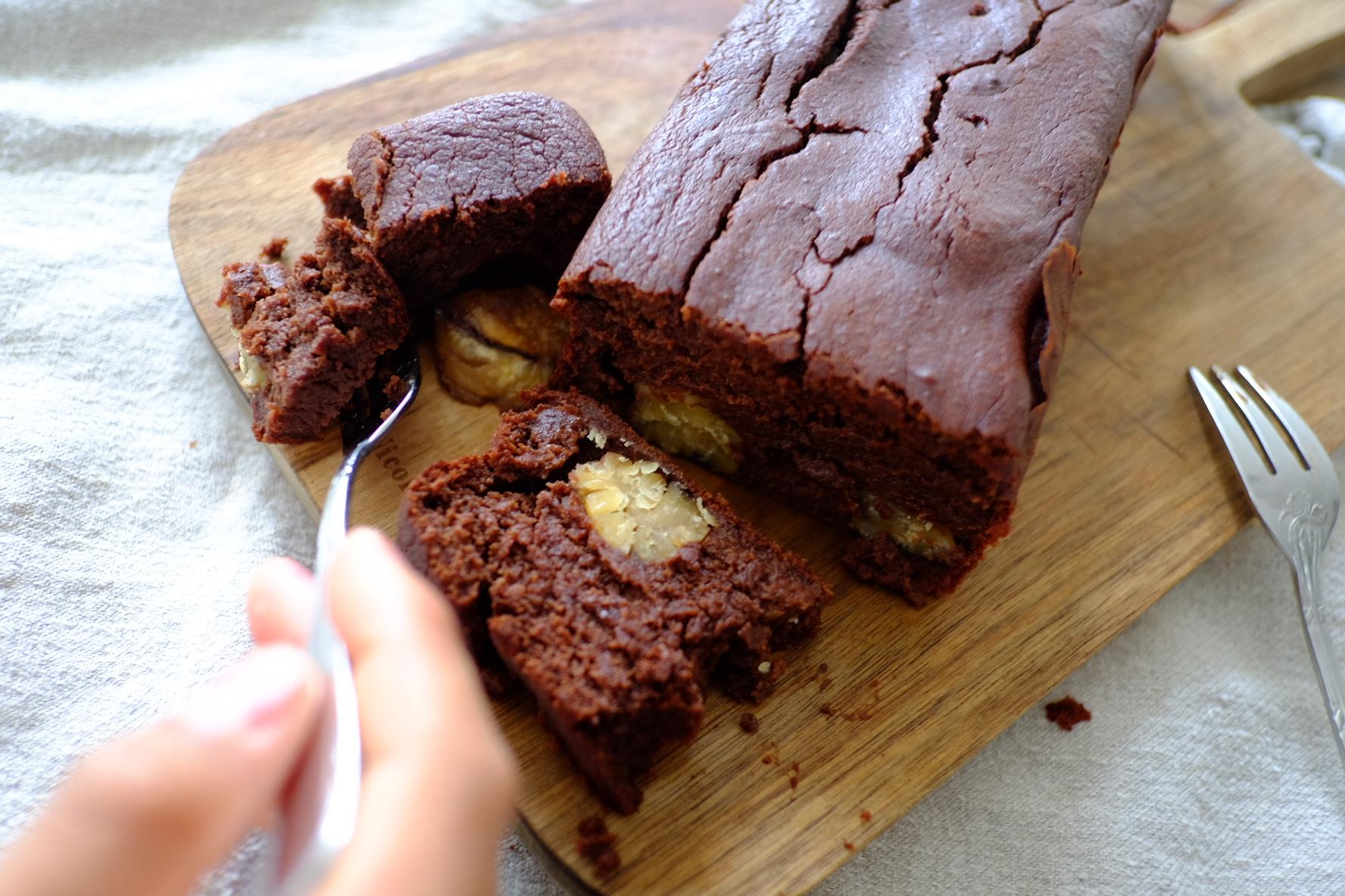 デーツと栗のケーキ